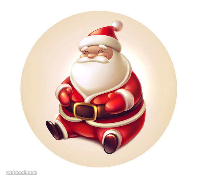 funny santa claus pictures vector