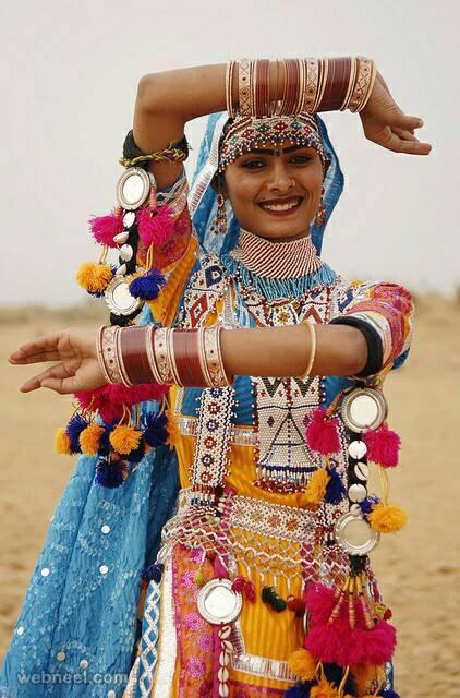 Beautiful Rajasthan Girl Colorful Photos