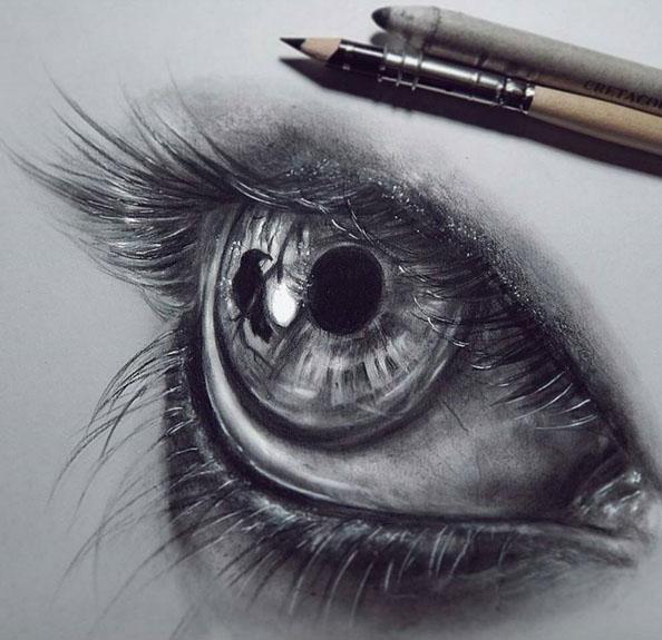Eye drawing by Federica Taddei