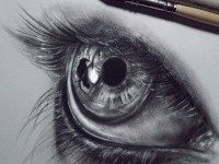 Eye drawing by Federica Taddei