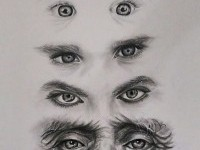 eyes drawing by Shade of Arts