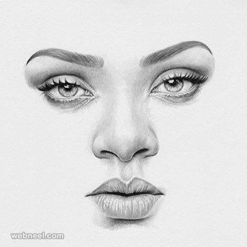 Face pencil drawing face pencil drawing