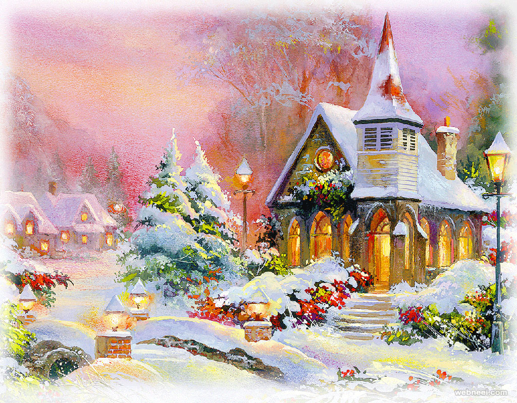 Beautiful christmas paintings for your inspiration
