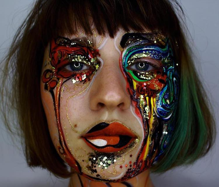 Abstract human face painting