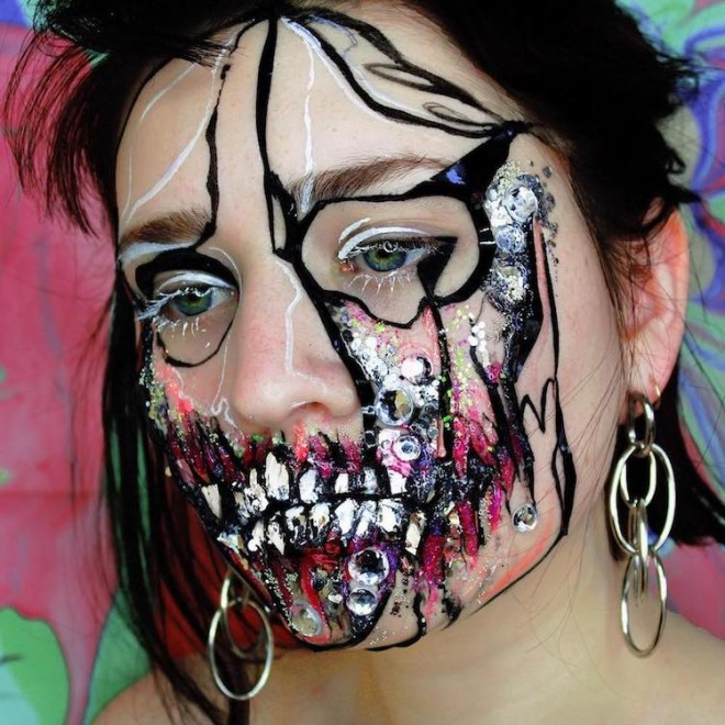 abstract face painting