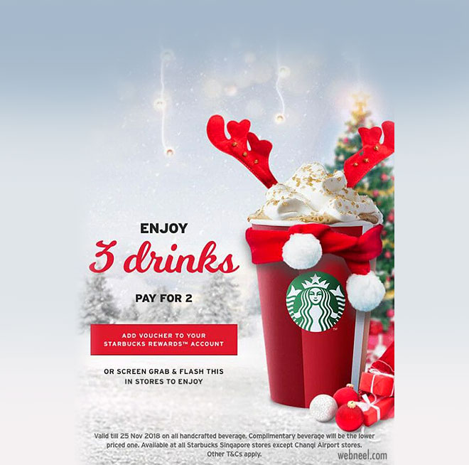 christmas print ads starbucks
