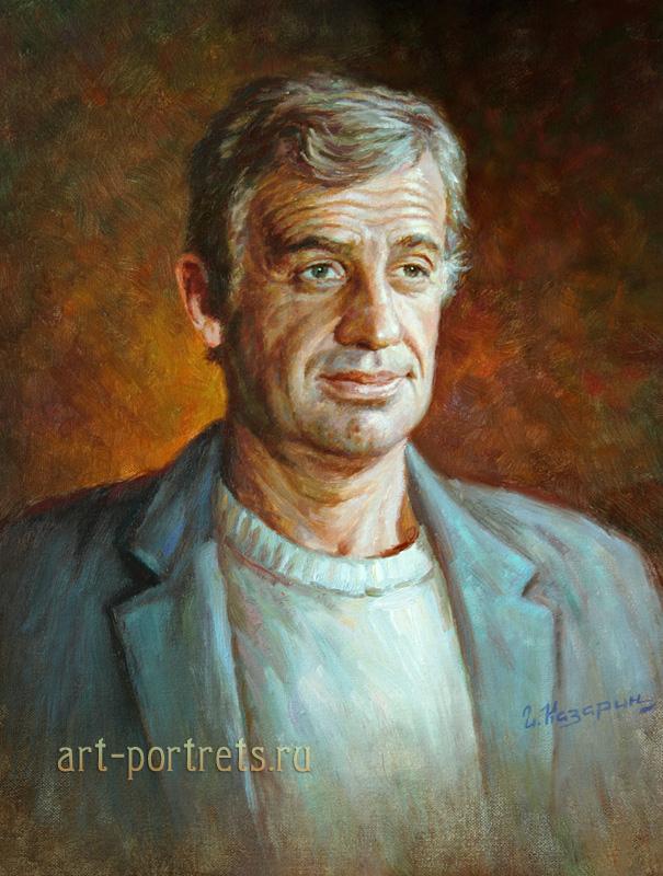 oil painting portrait jean paul belmondo
