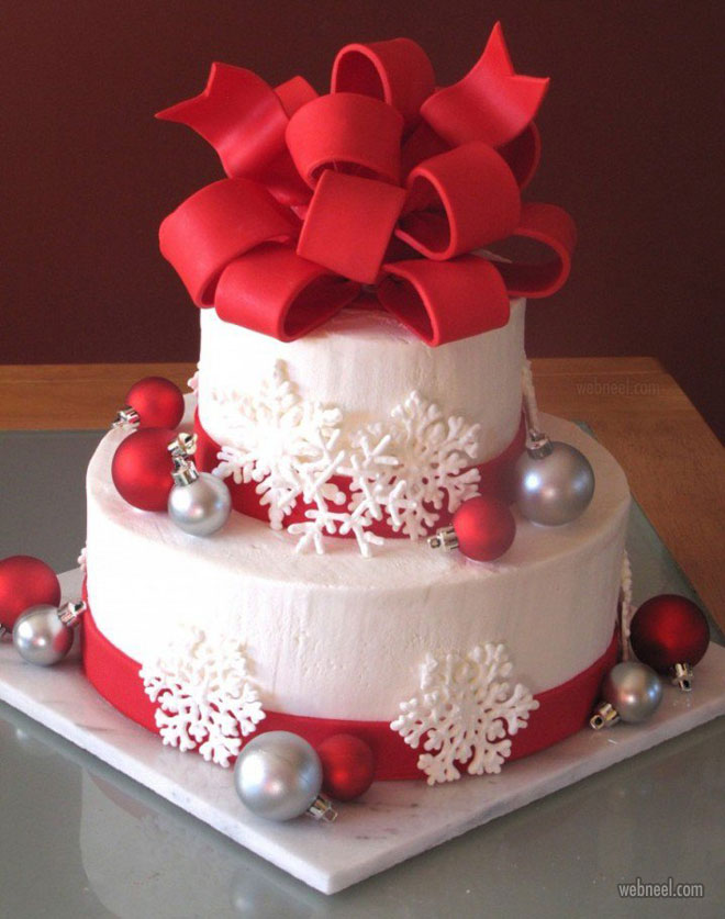christmas cake snow idea