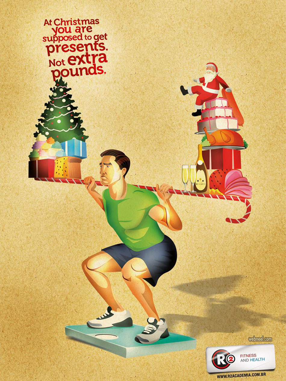 christmas print ads fitness gym