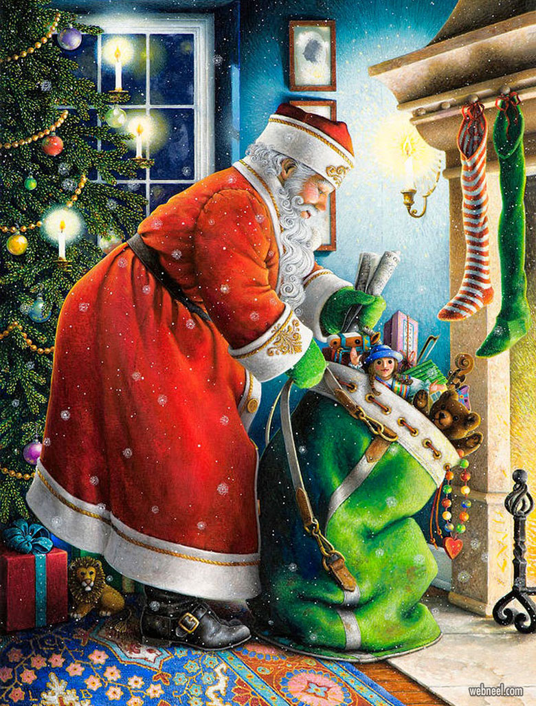 funny santa claus by lynn waters