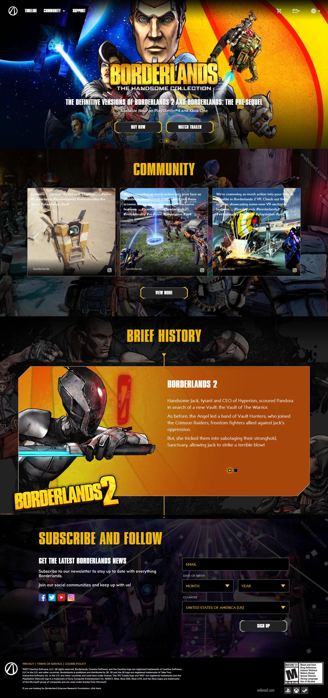 website design game borderlands