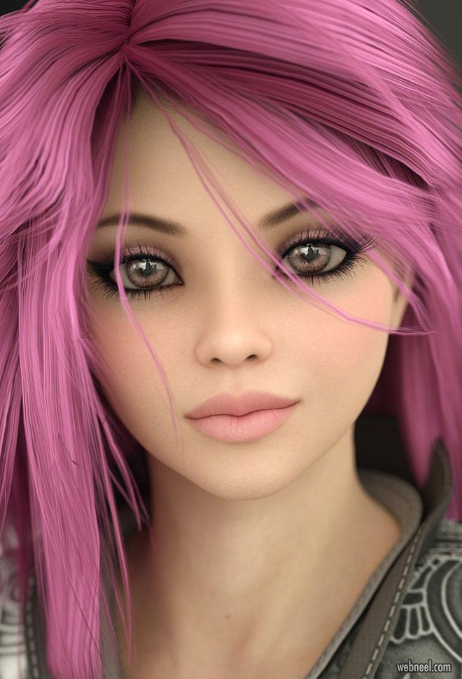 3d model girl character design