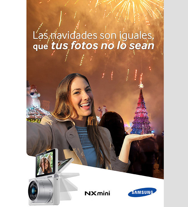 christmas print ads samsung camera
