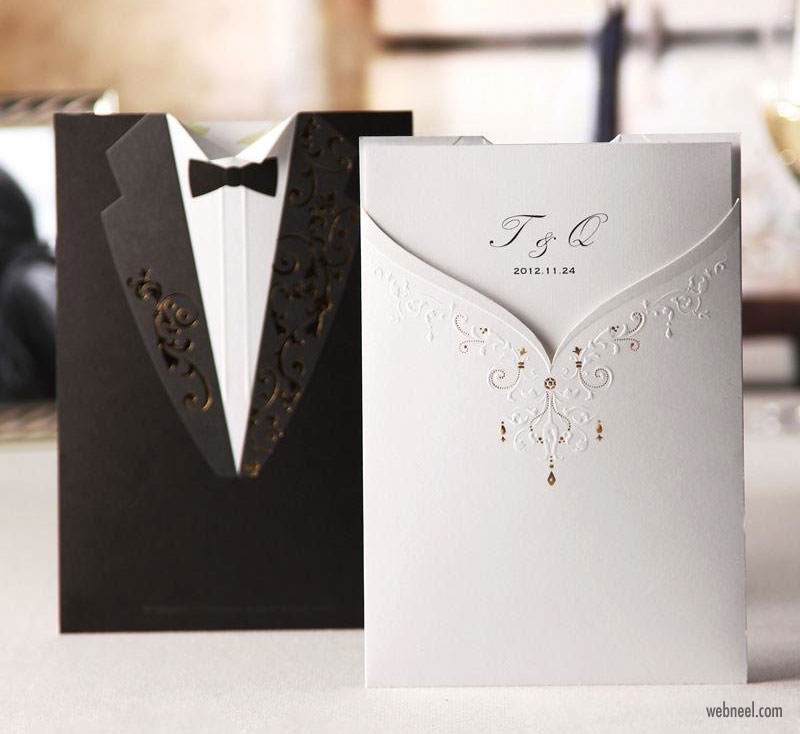 wedding card design idea modern
