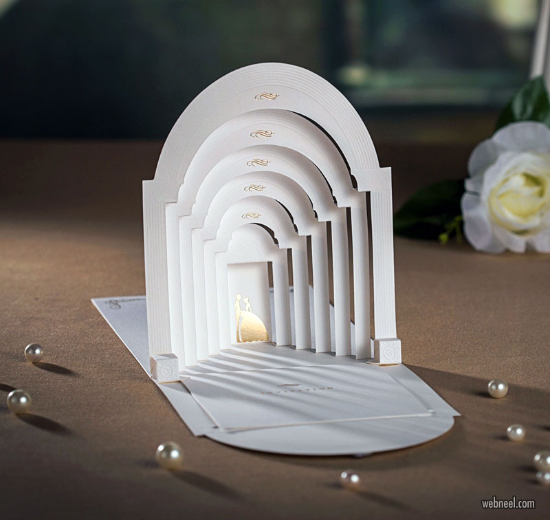 wedding card design idea 3d pop