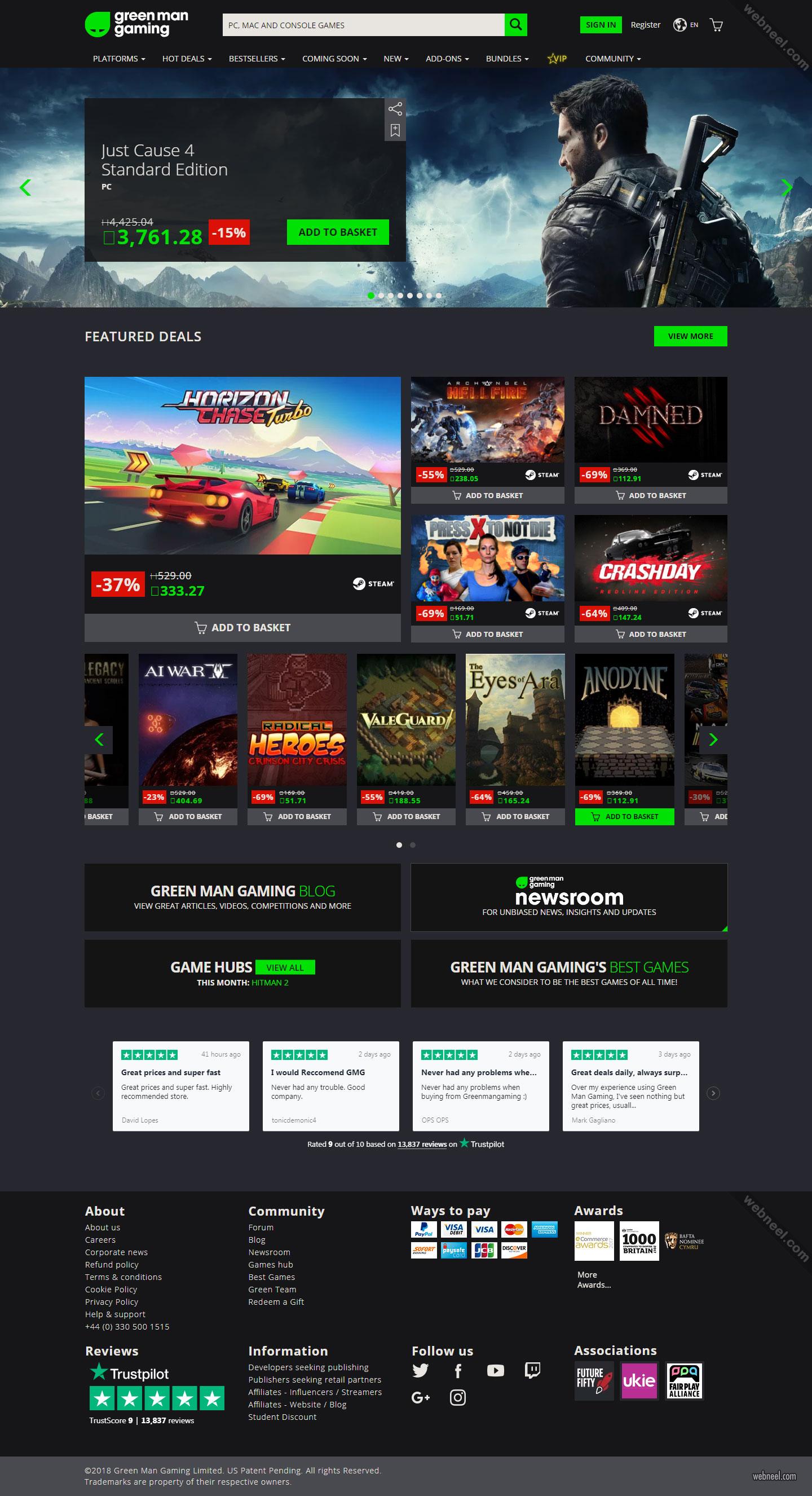 game website design ideasgreen man gaming