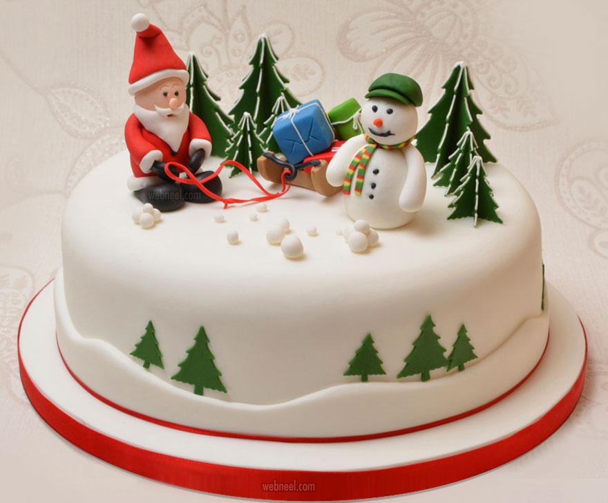 christmas cake santa