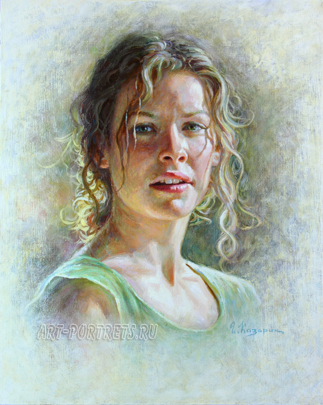 oil painting portrait evangeline lilly painting