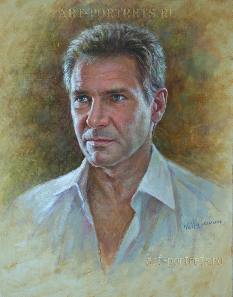 oil painting portrait harrison ford painting by igor kazarin
