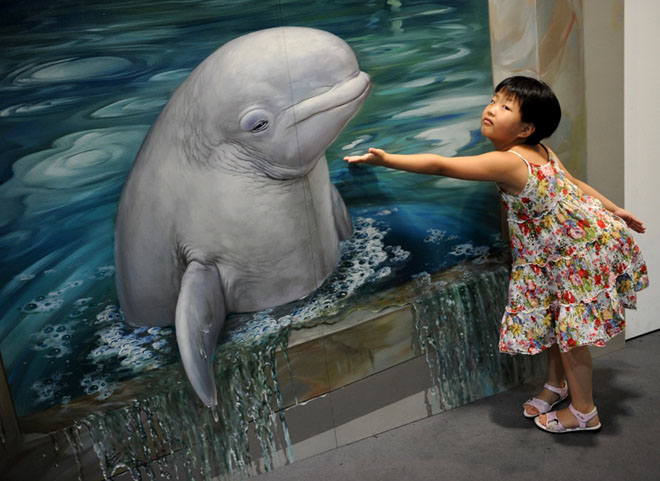 D Painting Exhibition : Awesome d interactive paintings magic art works at