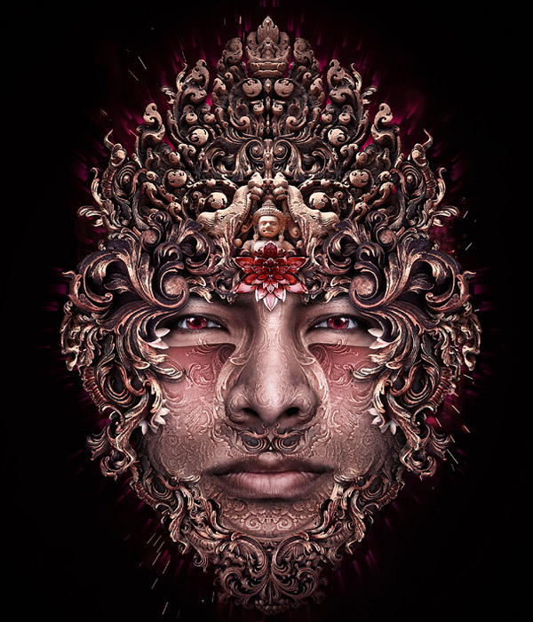 Beautiful Digital Art work metal face manipulation creative
