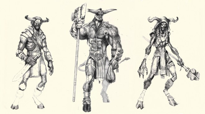 minotaur dudez digital illustration
