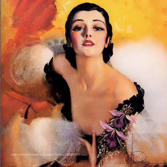 Painting   Rolf Armstrong  Oil painting