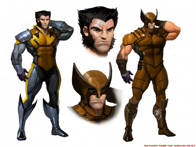 Photoshop wolverine fan art