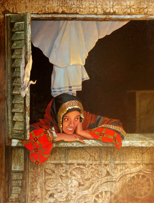 glazing-beautiful-indian-rural-oil-india-paintings-stanislav-plutenko