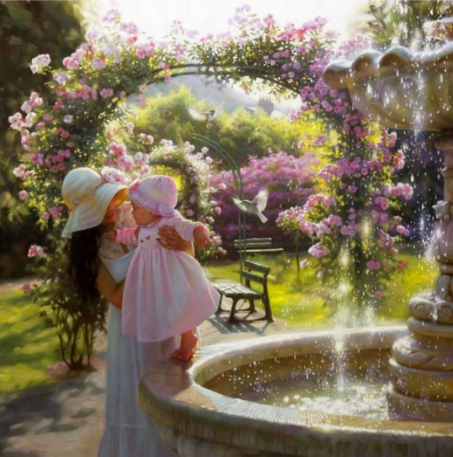 Beautiful Paint Classy Of Beautiful Garden Paintings Pictures