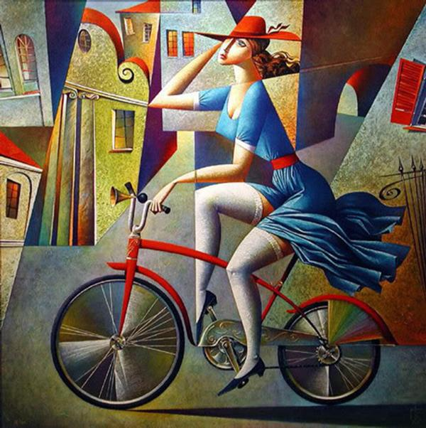 Picture-1 ( 20 Vibrant Cubist Art works and Illustrations by Georgy Kurasov )