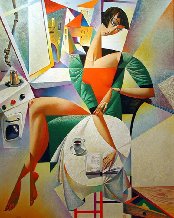 Picture-16 ( 20 Vibrant Cubist Art works and Illustrations by Georgy Kurasov )