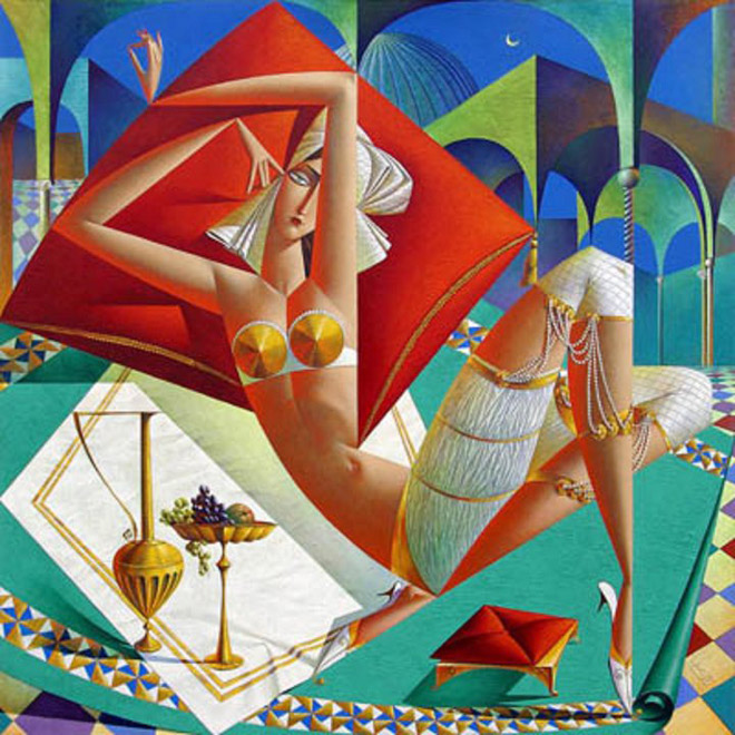 Picture-19 ( 20 Vibrant Cubist Art works and Illustrations by Georgy Kurasov )