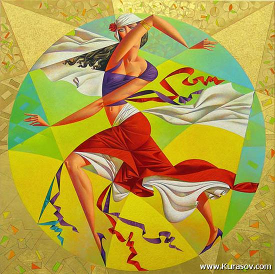 Picture-3 ( 20 Vibrant Cubist Art works and Illustrations by Georgy Kurasov )