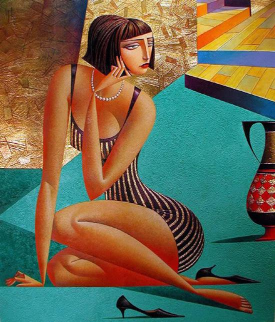 Picture-4 ( 20 Vibrant Cubist Art works and Illustrations by Georgy Kurasov )