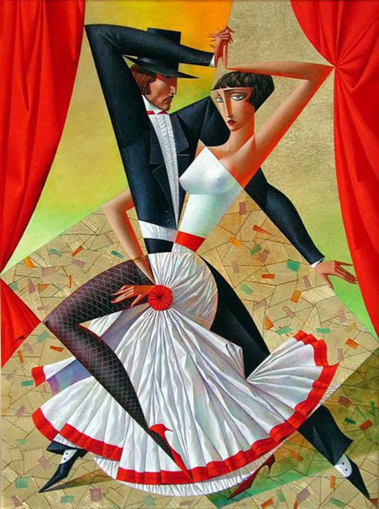 beautiful painting georgy kurasov%20(6) 20 Vibrant Cubist Art works and Illustrations by Georgy Kurasov
