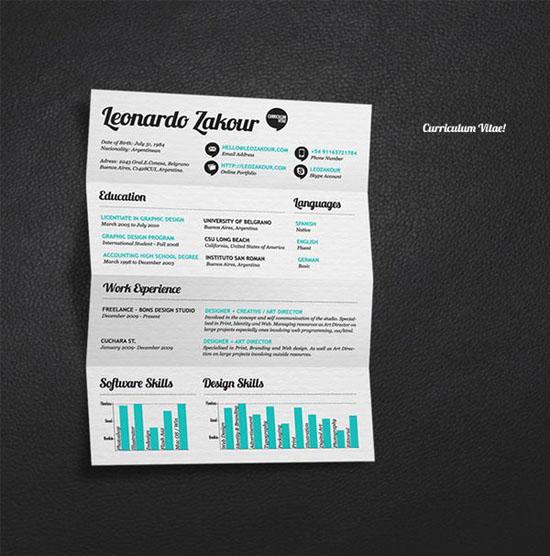 creative resume design - Back to Article