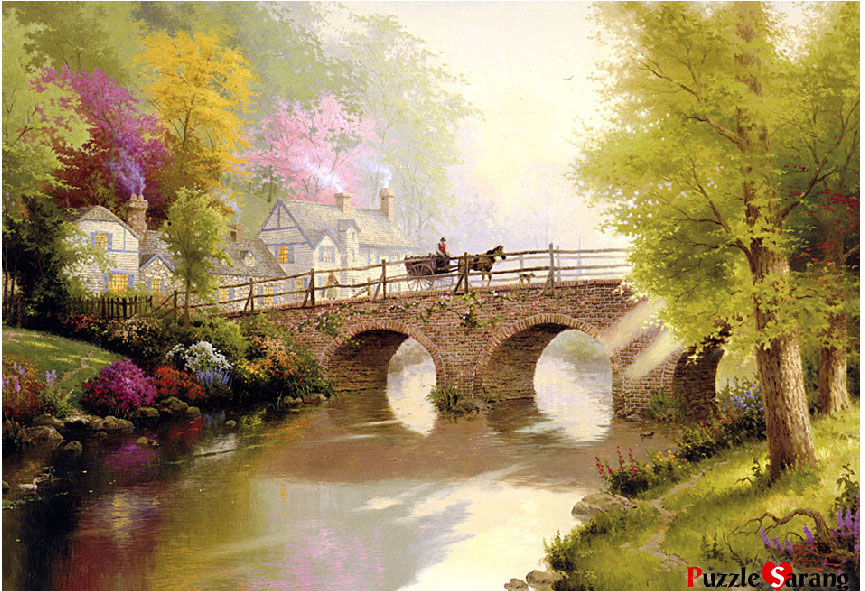 Picture-1 ( 15 Mind Blowing Disney Paintings by Thomas Kinkade - The Painter of Light )