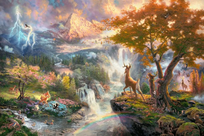disney paintings thomas kinkade%20(11).preview 15 Mind Blowing Disney Paintings by Thomas Kinkade   The Painter of Light