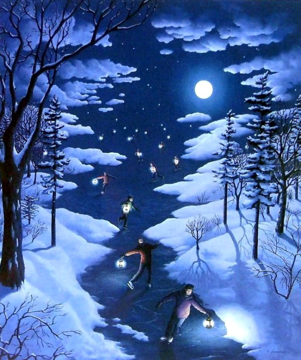 Fantastic Optical Illusion Art Works And Paintings Rob Gonsalves