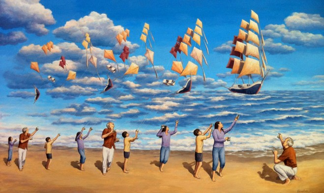 illusion art painting%20(16).preview 25 Fantastic Optical Illusion Art works and Paintings by Rob Gonsalves