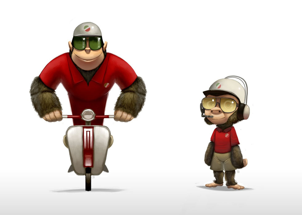 Picture-1 ( Monkey The Pizza Boy - Best 3D Animation and Character Design Collections )