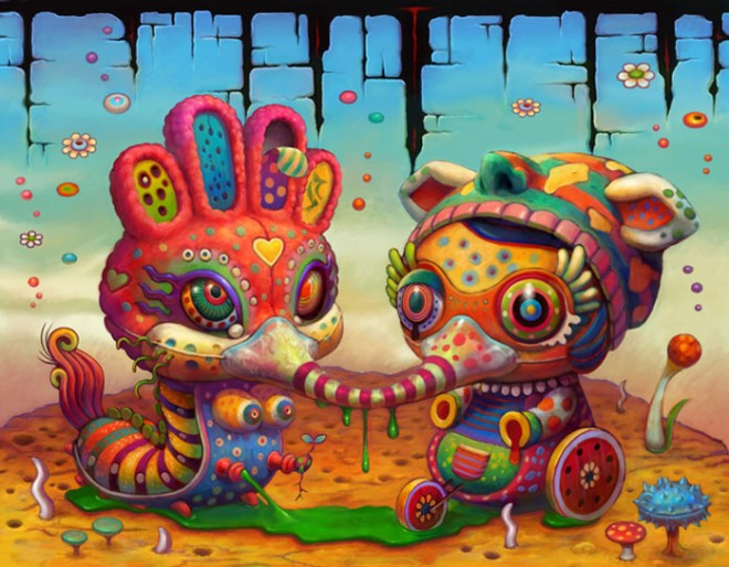yoko-d-holbachie-painting-art-illustration-colorful-beast-creature