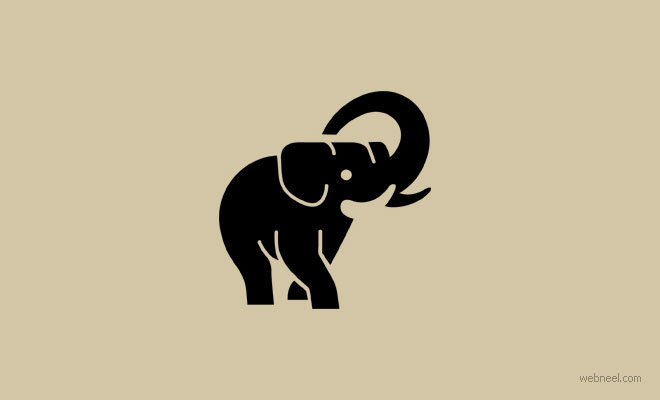 elephant logo design