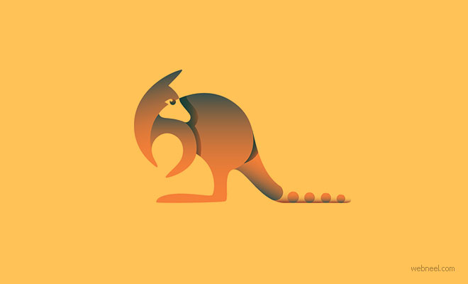 wallaby logo design