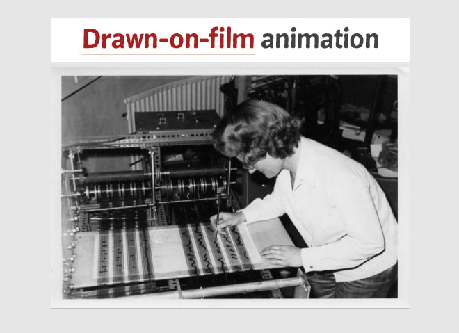 drawn on film animation
