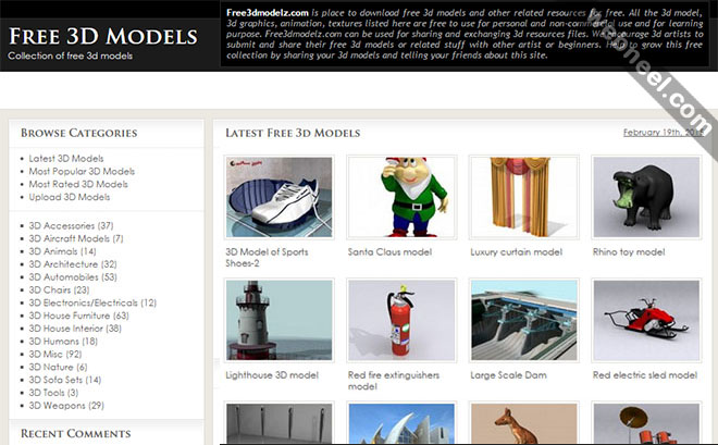 free 3d models website
