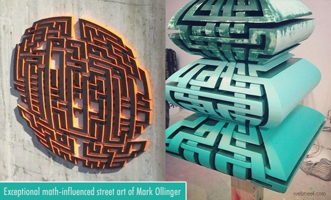 Exceptional math-influenced Street Art works by Vancouver Artist Mark Ollinger