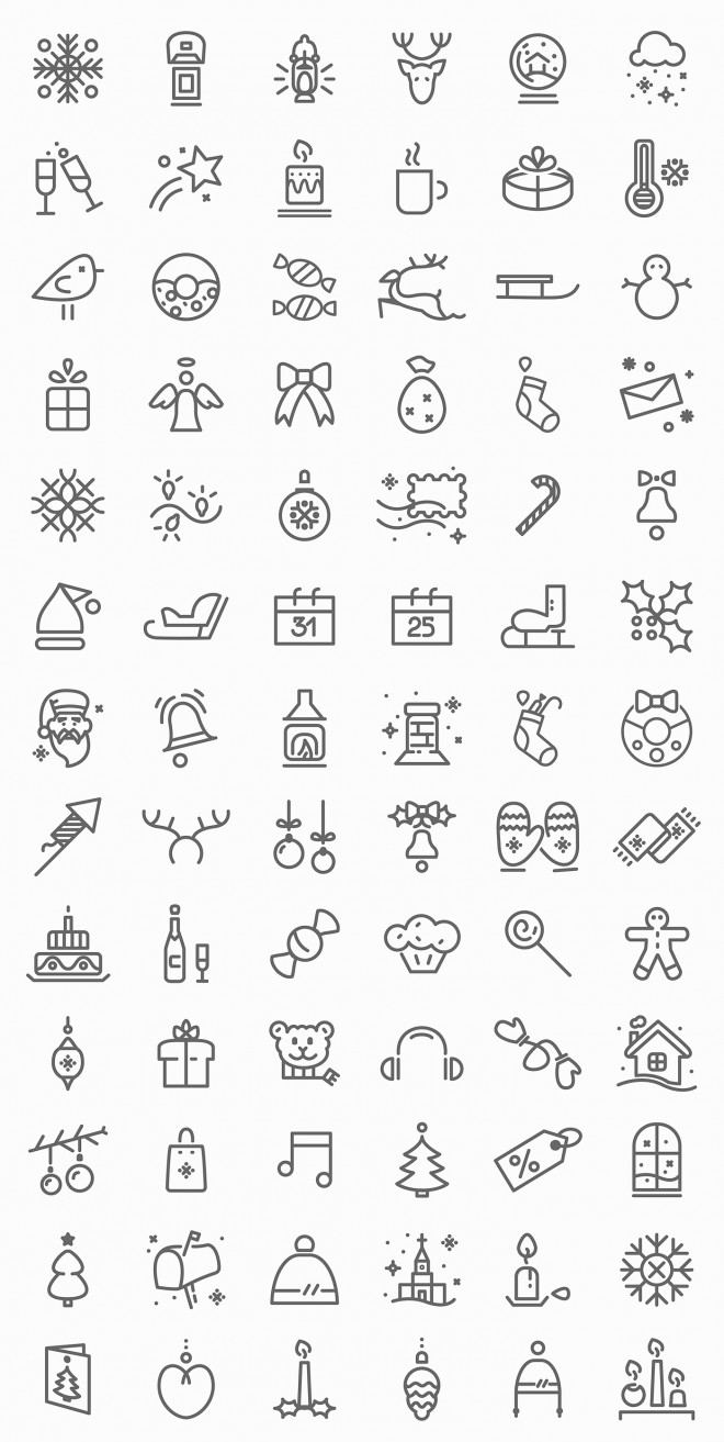 free christmas icon set design