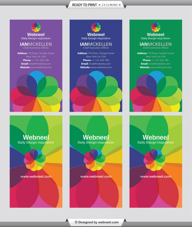 10 colorful business card template
